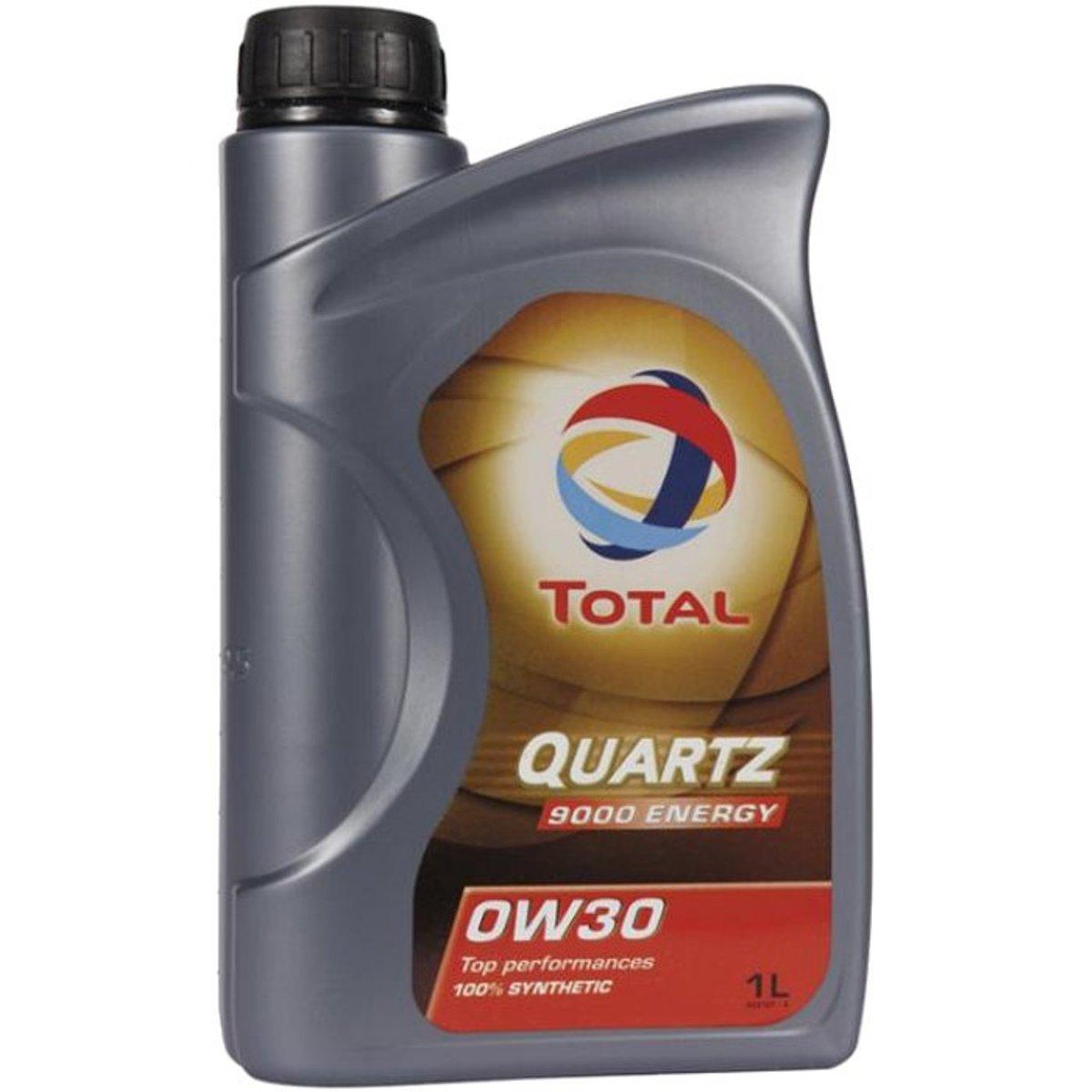 Моторное масло Total Quartz 9000 Energy 0W30, 1 лS03301004Полностью синтетическое моторное масло для бензиновых и дизельных двигателей легковых автомобилей. Обеспечивает чистоту двигателя, что позволяет сохранить его мощность. TOTAL Quartz Energy 9000 0W-30 снижает потребление топлива и уменьшает содержание вредных веществ в выхлопных газах. данное масло обеспечивает оптимально долгий срок службы двигателя благодаря отличным противоизносным свойствам, обеспечивающим защиту наиболее уязвимых узлов двигателя. Масло содержит моюще-диспергирующие присадки, поддерживающие чистоту в двигателе и его уровень эксплуатационных свойств, таким образом, сохраняя его мощность. Данное моторное масло может применяться в самых жестких условиях эксплуатации (городской трафик, движение по автомагистрали) и подходит для всех стилей вождения, в особенности спортивной или агрессивной езды, независимо от сезона.Эксплуатационные свойства масла превосходят технические требования крупнейших автопроизводителей, таким образом, данное масло подходит, по крайней мере, для 15 различных марок автомобилей.Спецификации производителей автомобилей BMW Longlife-01 / BMW LL-01, GM-LL-A-025, VW/AUDI 502 00, VW/AUDI 505 00, MB Approval 229.3 / MB 229.3, MB Approval 229.5 / MB 229.5