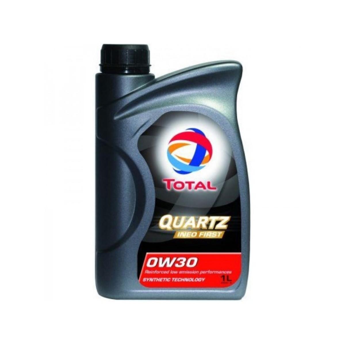 Моторное масло Total Quartz Ineo First 0W30, 1 лкн12-60авцTOTAL QUARTZ INEO FIRST 0W-30 применяется концерном PSA PEUGEOT CITROEN в качестве моторного масла первой заливки и рекомендуется для послепродажного обслуживания. Моторное масло, разработанное по синтетической технологии, обеспечивает двигатель максимальной защитой от износа и от образования отложений. Благодаря малозольной формуле (низкое содержание серы, фосфора, пониженная зольность) масло обеспечивает долгое и правильное функционирование системы доочистки выхлопных газов, чувствительных к смазочным материалам и дорогих в обслуживании. Применение TOTAL QUARTZ INEO FIRST 0W30 позволяет экономить, не требуя при этом изменения стиля вождения. Подходит для наиболее сложных условий эксплуатации (езда от двери до двери, спортивное вождение, старт-стоп, езда в городе и т.д.). Синтетическая технология Экономия топлива и LOW SAPS Международные спецификации: ACEA C1 и C2 2010 Одобрения автопроизводителей:PSA PEUGEOT CITROEN B71 2312