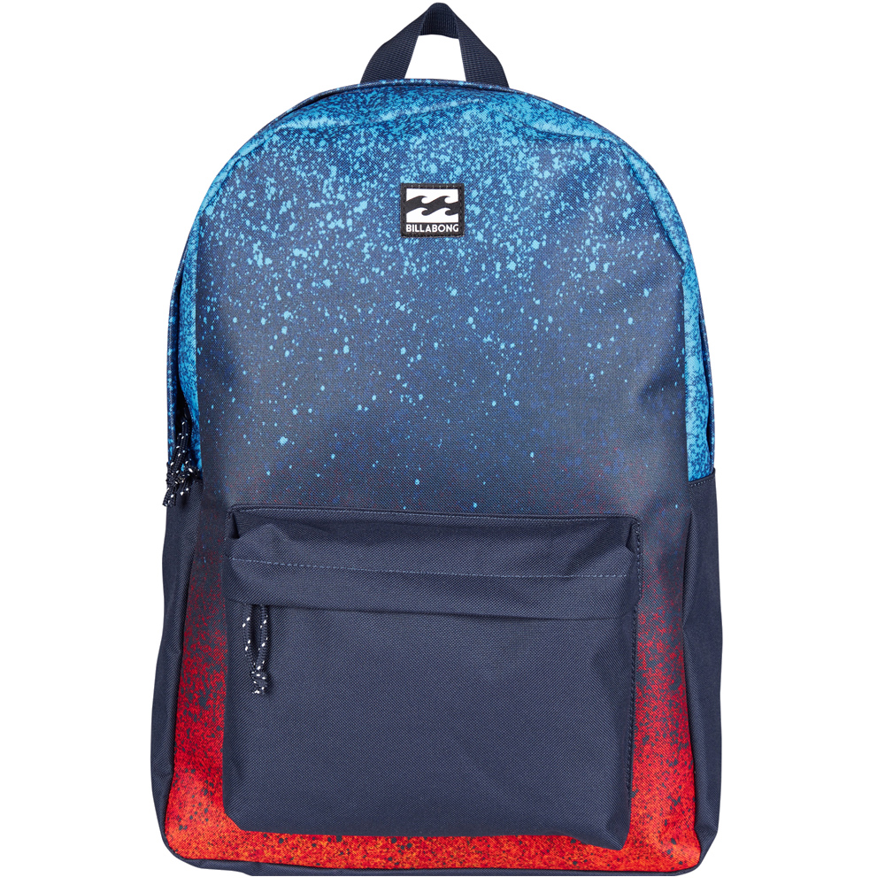 Рюкзак городской Billabong All Day Pack, цвет: синий, красныйRivaCase 8460 aquamarineКомпактный городской рюкзак, объема которого вполне достаточно для повседневных потребностей. Рюкзак для работы, учебы или пляжного отдыха. Классический дизайн с одним отделением, в которое можно сложить все, что угодно. Основное отделение закрывается на молнию. Спереди имеется объемный карман на молнии. Мягкие регулируемые лямки.Стильные расцветки сделают этот рюкзак не только полезным аксессуаром, но и замечательным дополнением вашего образа в целом.