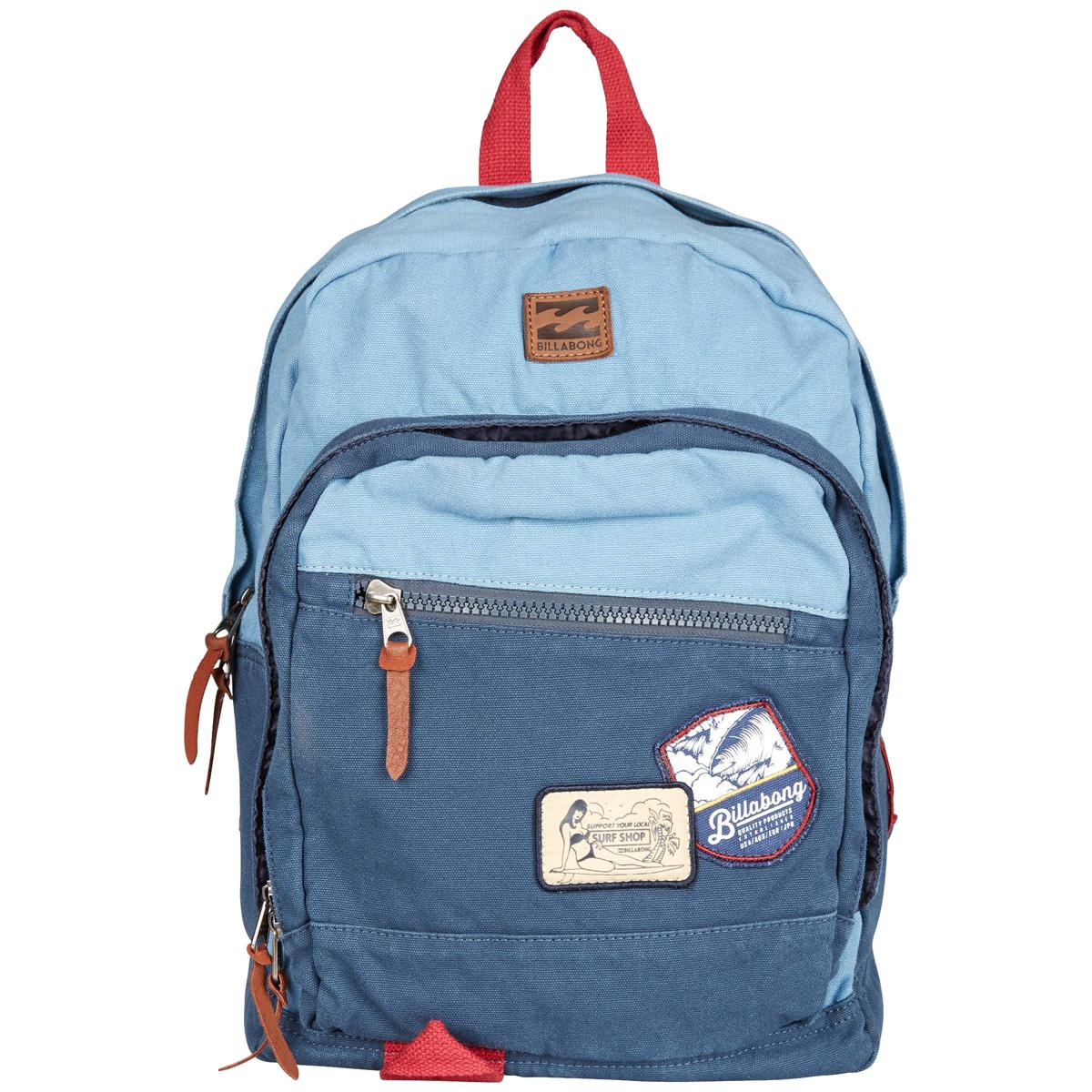 Рюкзак городской Billabong York Canvas, цвет: синий, голубойBP-001 BKСохраняйте классический статус с этим рюкзаком Billabong York Canvas. Асимметричный внешний карман для мелочей, защищенное отделение для ноутбука, карман для планшета, регулируемые лямки и кожаные детали. А еще, конечно, вместительное основное отделение, которого вам с избытком хватит для жизни в городе.