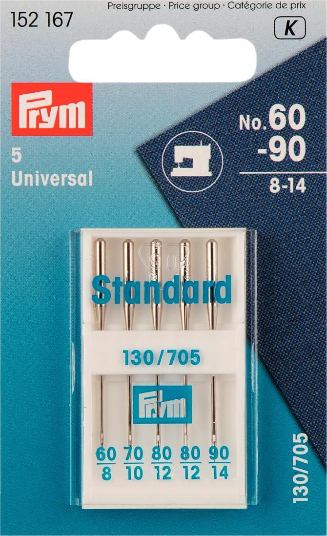 Набор игл для швейных машин Prym, №60-90, 5 шт152167