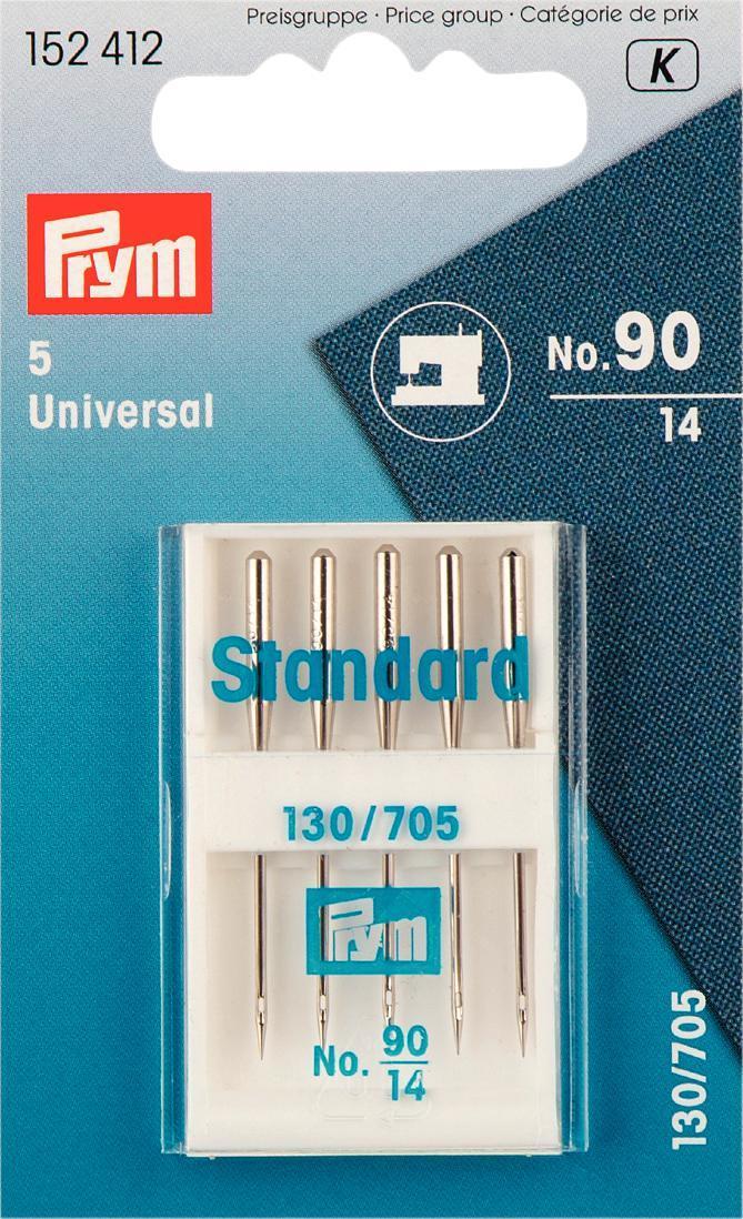 Иглы для швейных машин Prym, №90, 5 штSM 10-09Иглы для швейных машин Prym изготовлены из стали высокого качества. Предназначены для швейных машин. В пенале. Комплектация: 5 шт. Размер игл: №90.