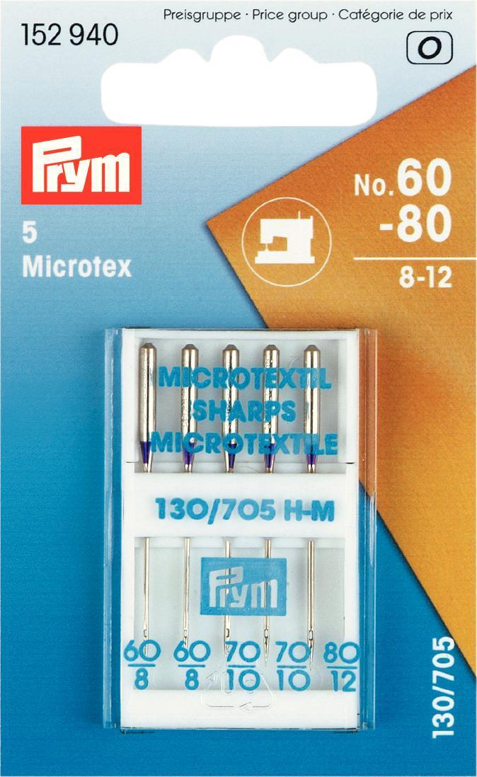 Набор игл для швейных машин Prym, для микротекстиля, №60-80, 5 шт152940