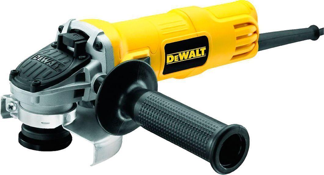 Машина углошлифовальная DeWalt. DWE40513 05 01 033Углошлифовальная машина DeWalt предназначена для абразивной обработки: резки, шлифования и зачистки изделий из камня, металла и других материалов. Применяется в строительстве, металлообработке и обработке древесины.Особенности углошлифовальной машины DeWalt:- Корпус оптимального диаметра обеспечивает удобный захват и превосходную эргономику.- Независимый и подпружиненный щеткодержатель для увеличения срока службы щеток.- Использование только шариковых подшипников в конструкции увеличивает эффективность и долговечность инструмента.- Низкопрофильный корпус редуктора для работы в труднодоступных местах.- Антивибрационная боковая рукоятка для удобства пользователя. - Новая конструкция защитного кожуха позволяет без ключа устанавливать, регулировать и снимать защитный кожух для повышения эксплуатационной гибкости. - Обмотки статора с прямыми выводами без использования клемм для увеличения надежности двигателя. - Самоотключающиеся щетки защищают якорь от повреждения в случае истечения срока их службы, обеспечивая, тем самым, продолжительный срок службы самого двигателя. - Верхнее расположение кнопки блокировки шпинделя обеспечивает максимальную глубину реза.- Эпоксидное покрытие обмотки защищает двигатель от абразивной пыли и увеличивает надежность инструмента.Держатель насадки: 42614 мм.Высота: 80 мм.Уровень вибраций при резании: 42469 м/с2. Погрешность вибрации: 42497 м/с2.Уровень вибрации при шлифовании: 42491 м/с2.Погрешность вибрации (долбление): 42491 м/с2.Звуковое давление: 91 дБ(А).Погрешность уровня шума: 3 dB(A). Акустическая мощность: 101 дБ(А). Погрешность мощности создаваемого шума: 3 dB(A).