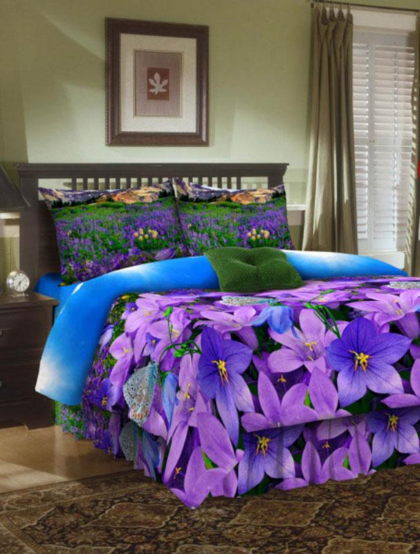 Комплект белья ROKO, 2-спальный, наволочки 70x70, цвет: голубой, сиреневый, зеленый01-1214-1Комплект белья ROKO состоит из простыни, пододеяльника и двух наволочек. Для производства постельного белья используются экологичные ткани высочайшего качества. Бязь - хлопчатобумажная плотная ткань полотняного переплетения. Отличается прочностью и стойкостью к многочисленным стиркам. Бязь считается одной из наиболее подходящих тканей для производства постельного белья и пользуется в России большим спросом.