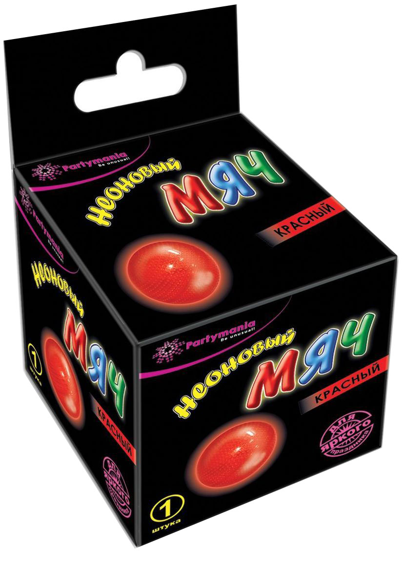 Partymania Неоновый мяч цвет красный -  Аксессуары для детского праздника