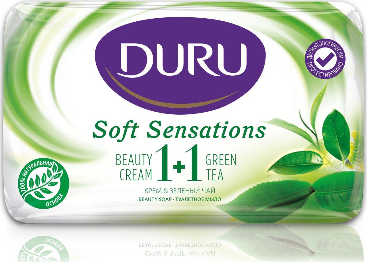 Duru Soft Sens Мыло Зеленый чай 80г5010777139655Оригинальное мыло с натуральными экстрактами и увлажняющим кремом бережно очищает Вашу кожу и придает ей мягкость и свежесть