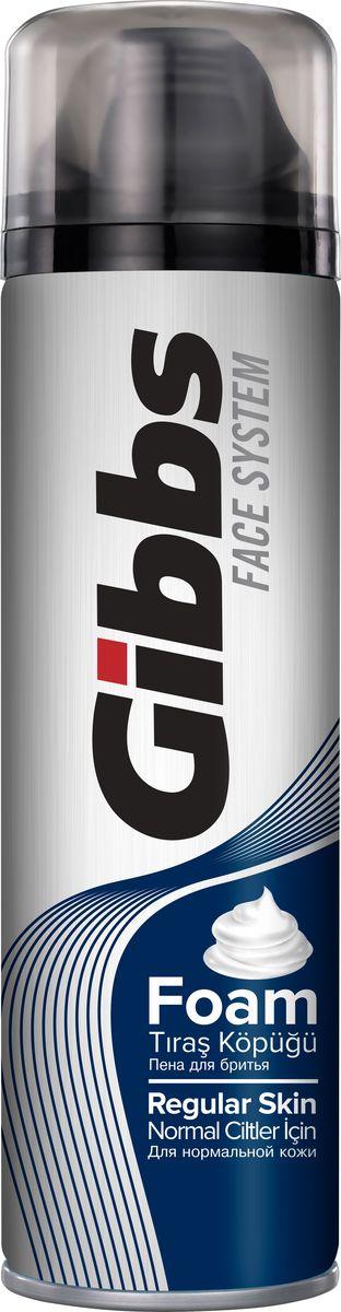 Gibbs Пена для бритья Regular 200мл5010777139655Пена для бритья Gibbs Regular Skin - современное, инновационное средство для бритья для нормальной кожи, содержит морские минералы.