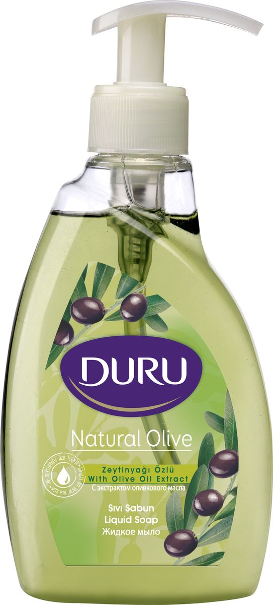 Duru Natural Мыло жидкое OLIVE 300мл5010777139655Современное средство гигиены и ухода за кожей с увлажняющим действием глицерина. Отличается приятным ароматом и нежной текстурой.