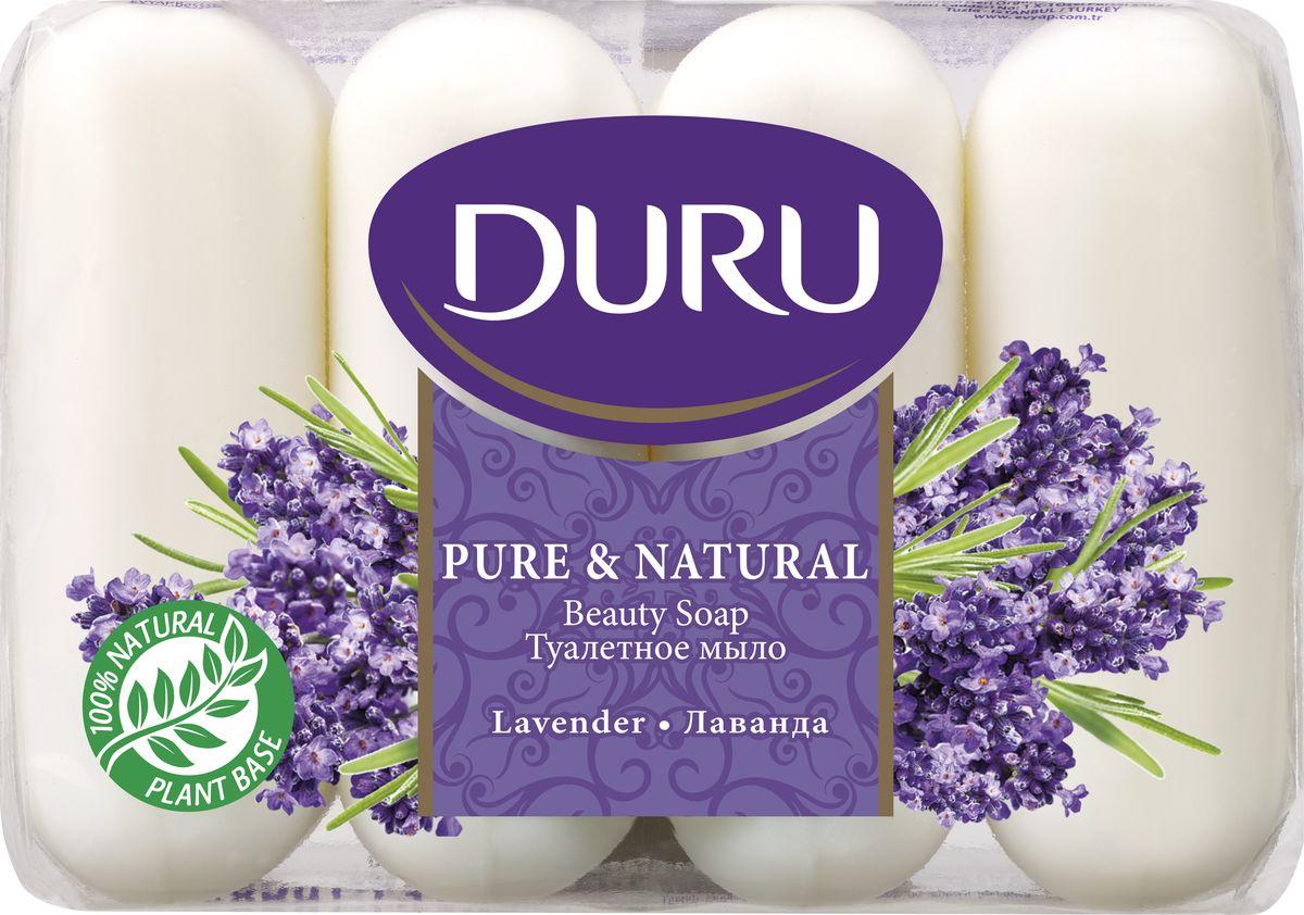 Duru Pure&NatМыло Лаванда э/пак 4*85г5010777139655Бережное туалетное мыло с нежными природными ароматами
