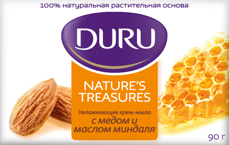 Duru Nature's Treasures Мыло Мед и Миндаль 90г