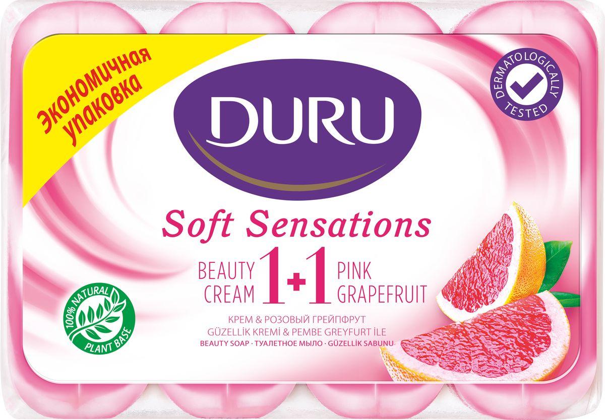 Duru Soft Sens Мыло Грейпфрут э/пак 4*90гZ4101Оригинальное мыло с натуральными экстрактами и увлажняющим кремом бережно очищает Вашу кожу и придает ей мягкость и свежесть