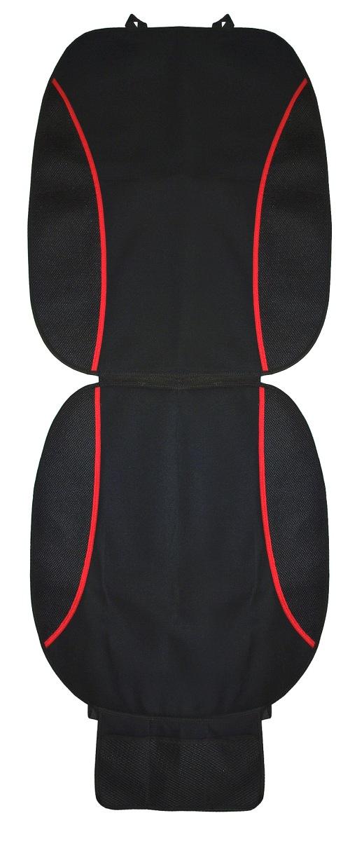 Накидка на сиденье Антей, с карманом, 120 х 54 смА508Универсальная накидка на сиденье Антей выполнена из триплированного хлопка (плотный материал на подложке). Накидка крепится на кресло автомобиля с помощью пластиковых фиксаторов. Внизу расположен сетчатый карман из полиэстера для разных мелочей.