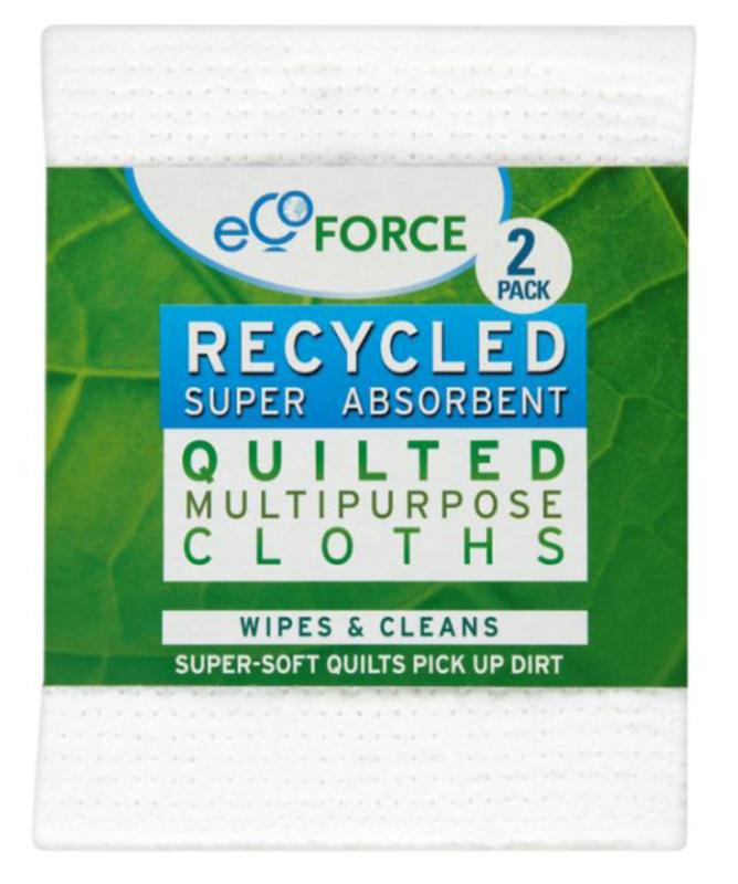 Салфетка EcoForce, супервпитывающая, 2 шт97526Особенности:Супер впитывающие салфетки EcoForce – многофункциональные салфетки для любых поверхностей: ванной, кухни, автомобилей и др. Мягкий, качественный материал чистит без царапин, прекрасно впитывает и полирует. Может использоваться для сухой или влажной уборки. Многократного применения (можно стирать в машинке при 40 градусах).