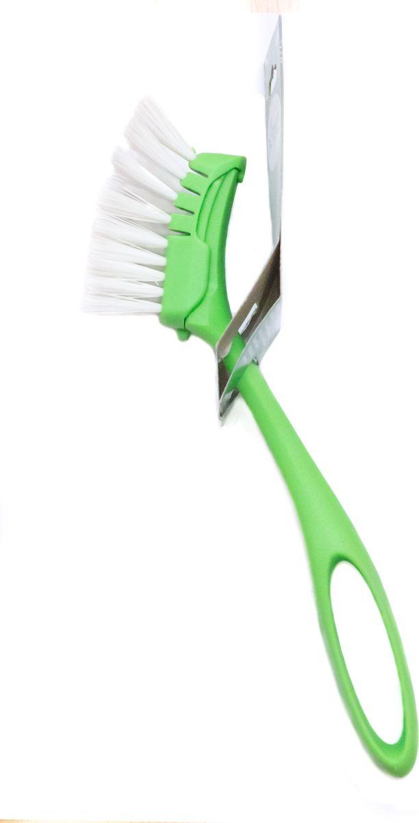 Щетка для посуды EcoForceV 0131_голубой,белыйЩетка для посуды EcoForce - современная, высокоэффективная, износоустойчивая щетка для очистки посуды. Идеально подходит для чистки кастрюль, сковород, противней. Преимущества: Эффективно очищает посуду от любых сложных загрязнений.Не впитывает красители и жир.Пластиковый скребок легко удаляет остатки пищи.Защищает руки и ногти от горячей мыльной воды.Изготовлена из переработанного сырья.Прочная щетина снижает усилия при мытье сильно загрязненных поверхностей, не впитывает красители и жир, пластиковый скребок позволяет легко удалить остатки пищи.Удобная ручка защитит руки от горячей мыльной воды и поможет добраться до самых труднодоступных поверхностей кухонной утвари.