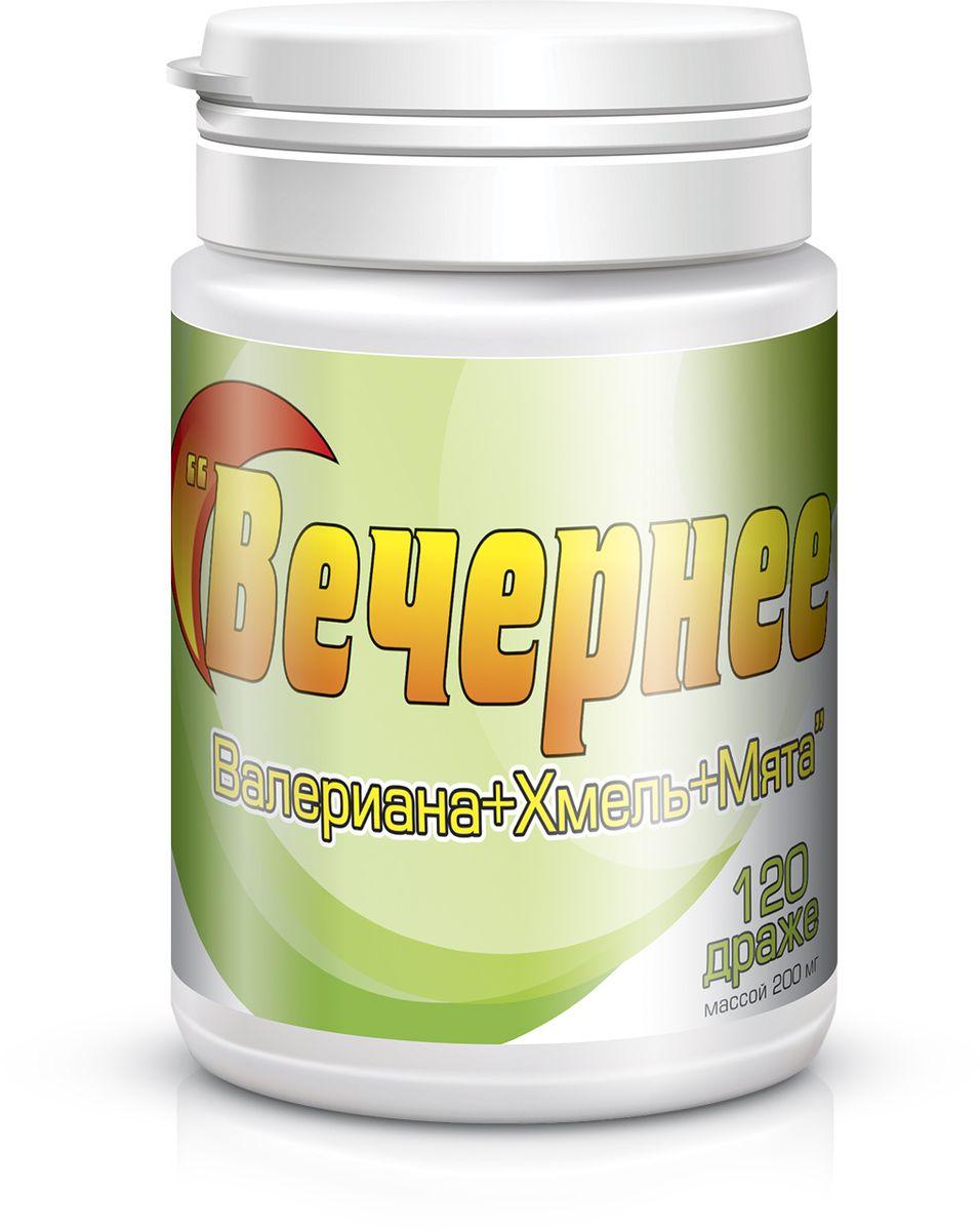 Вечернее Секреты долголетия, 0,205 г, №120GESS-131Валериана лекарственная – оказывает седативное, транквилизирующее действие на центральную нервную систему, регулирует сердечную деятельность, обладает спазмолитическими и желчегонными свойствами, усиливает секрецию железистого аппарата желудочно-кишечного тракта. Мята - применяют при гастрите, атонии кишечника, спазмах желудка и кишечника, энтероколите. Соплодия (шишки) хмеля обыкновенного содержат эфирное масло, горькое вещество липулин, аскорбиновую, хмеледубильную, гумуленовую и валериановую кислоты, триметиламин, смолу, камедь, красящее и дубильные вещества, холин, горечи, гипоксантин, воск, фитонциды.
