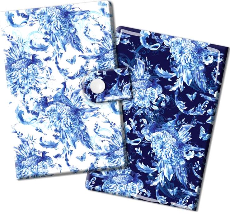 Визитница Magic Home Сказочные птицы, цвет: синий, белый. 44874INT-06501Визитница Magic Home выполнена из искусственной кожи и дополнена оригинальным рисунком. Модель застегивается на хлястик с кнопкой. Внутри содержатся 10 карманов для карт и визиток. Стильная визитница подчеркнет вашу индивидуальность и изысканный вкус, а также станет замечательным подарком.