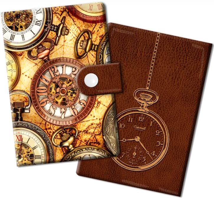 Визитница Magic Home Хронографы, цвет: светло-коричневый, коричневый. 44878B16-11416Визитница Magic Home выполнена из искусственной кожи и дополнена оригинальным рисунком. Модель застегивается на хлястик с кнопкой. Внутри содержатся 10 карманов для карт и визиток. Стильная визитница подчеркнет вашу индивидуальность и изысканный вкус, а также станет замечательным подарком.