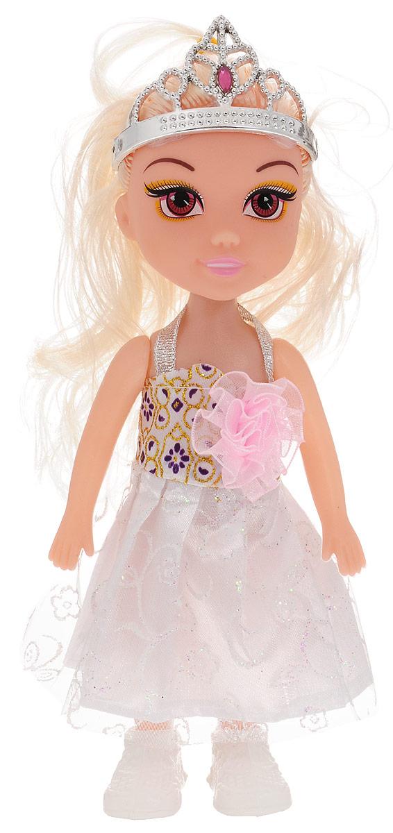 1TOY Кукла озвученная Красотка цвет платья белый
