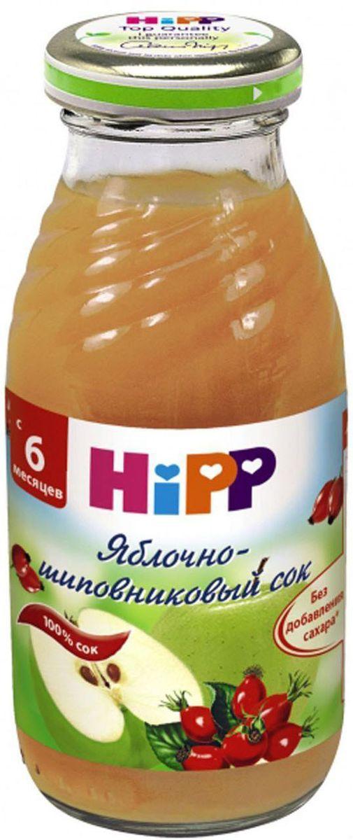 Hipp Сок яблочно-шиповниковый, с 6 месяцев, 200 г