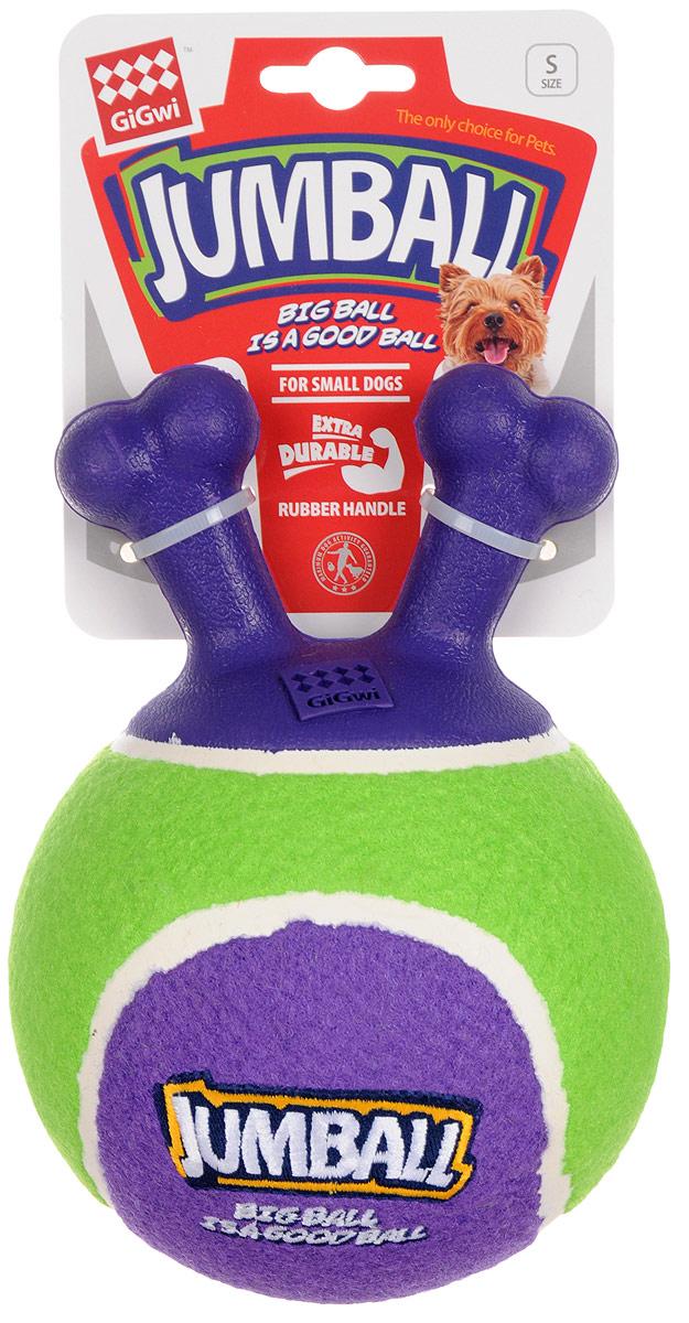 Игрушка для собак GiGwi Мяч с захватом, 14 х 18 х 14 см75363Игрушка GiGwi Мяч с захватом выполнена из высококачественной синтетической резины в виде мяча и покрыта настоящим теннисным фетром. Ручка сделана из пористой резины, что очень сильно уменьшает вероятность прокусывания мяча собакой. Дизайн ручки также позволяет собаке легко подобрать мяч и принести вам обратно. Мяч можно отфутболить ногами.Чтобы собака не прокусывала мяч следите, чтоб он был хорошо накачен. В случае необходимости подкачайте мяч насосом через имеющийся клапан. Размеры игрушки: 14 х 18 х 14 см.