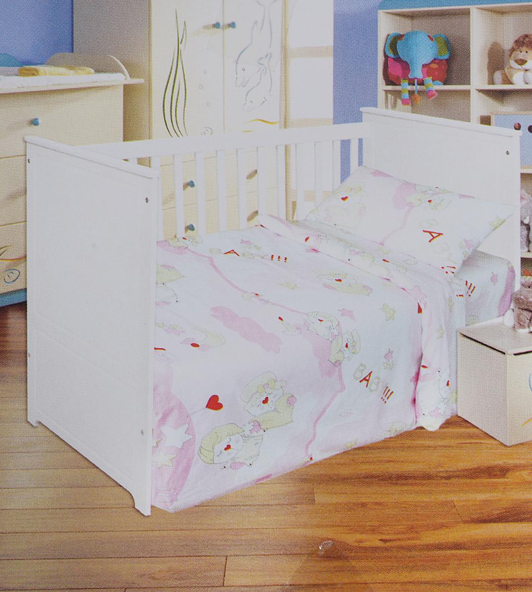 Bonne Fee Комплект белья для новорожденных Гномики цвет розовый96281496Комплект белья для новорожденных Bonne Fee Гномики выполнен в нежных тонах и украшен забавным рисунком. Комплект белья Гномики создаст комфорт и уют в кроватке малыша и обеспечит крепкий и здоровый сон. А современный дизайн и цветовые сочетания помогут ребенку адаптироваться в новом для него мире. Комплект белья для новорожденных Bonne Fee Гномики хорошо впишется в интерьер детской комнаты, или спальни родителей. Комплект постельного белья Гномики выполнен из натурального и экологически чистого 100% хлопка. Качество материала обеспечивает легкость стирки и долговечность. Комплект включает в себя наволочку, пододеяльник и простыню.