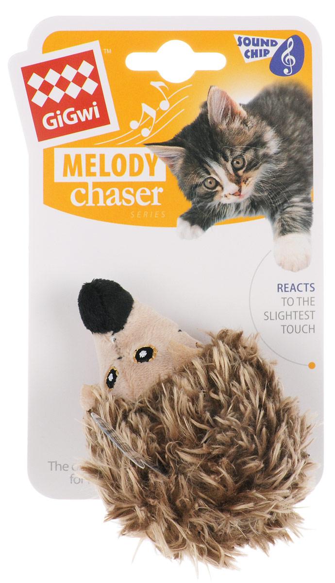 Игрушка для кошек GiGwi Ежик, с электронным чипом, длина 10 см. 75376GLG008Мягкая игрушка GiGwi Ежик изготовлена из текстиля. Играя с этой забавной игрушкой, маленькие котята развиваются физически, а взрослые кошки и коты поддерживают свой мышечный тонус. Изделие выполнено в виде ежика. Внутри игрушки расположен звуковой чип, срабатывающий при касании игрушки лапами кошки, реалистичный звук прерывается через несколько секунд. Такая игрушка точно заинтересует вашего питомца и не даст ему скучать.Размеры игрушки: 10 х 6,5 х 6,5 см.