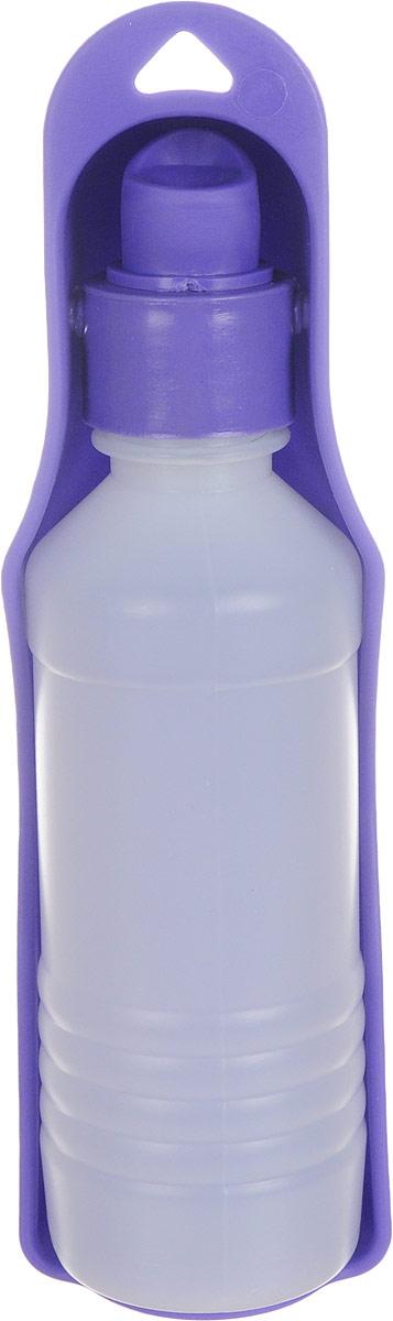 Бутылка дорожная для собак GiGwi, 250 мл0120710Бутылка дорожная для собак GiGwi - идеальное решение для длительных переездов и путешествий. Пластиковая бутылка с миской-формочкой дополнена отверстием для крепления на рюкзак.Объем: 250 мл