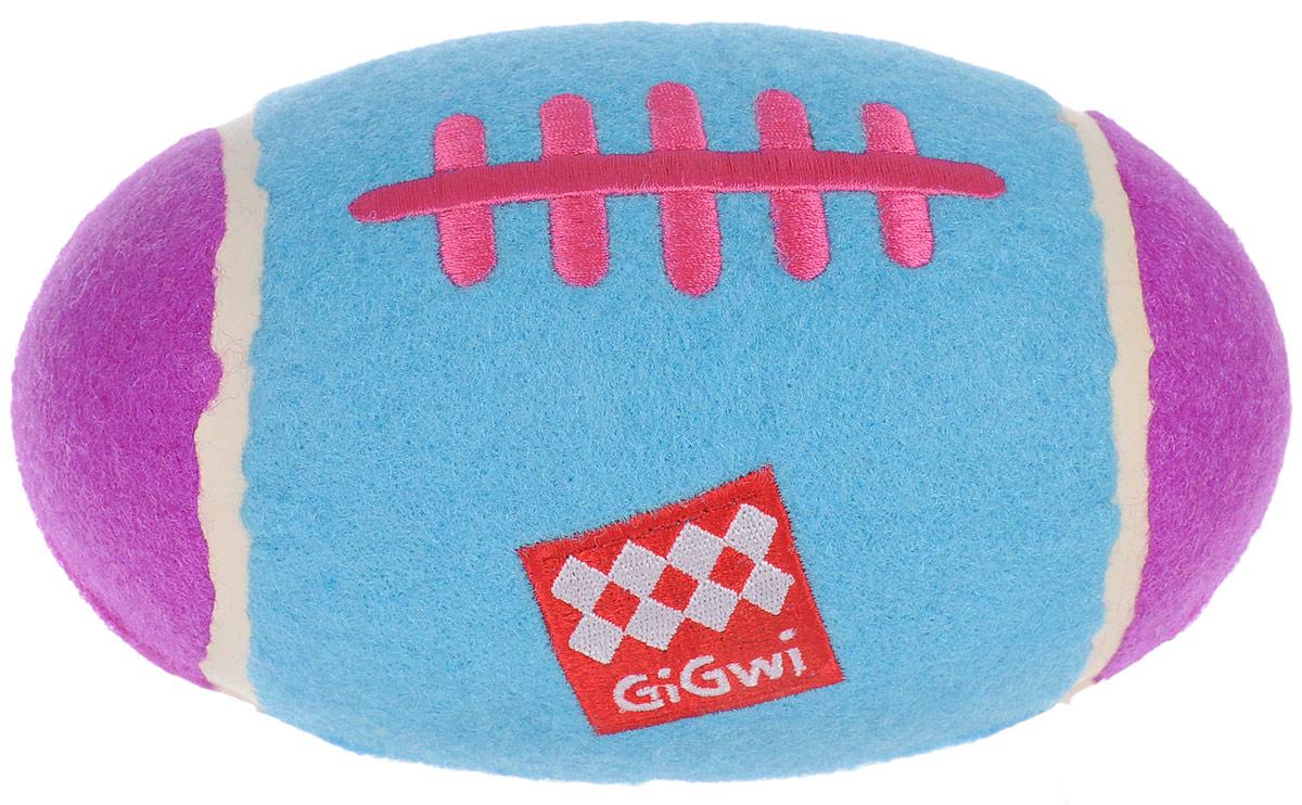 Игрушка для собак GiGwi Большой регби - мяч, с пищалкой, 17 х 10 х 10 см0120710Игрушка GiGwi Большой регби - мяч выполнена из высококачественной синтетической резины в виде мяча для регби и покрыта настоящим теннисным фетром. Пищалка спрятана таким образом, чтобы собака не могла вынуть ее. Такая игрушка прекрасно отскакивает от земли. Размеры игрушки: 17 х 10 х 10 см.