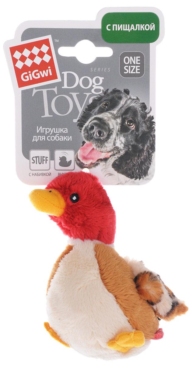 Игрушка для собак GiGwi Утка, с пищалкой, длина 11 см. 750650120710Игрушка для собак GiGwi Утка с набивкой дополнена текстильным покрытием. Игрушка подходит для активной игры. Плюшевая утка с пищалкой обязательно понравится вашему питомцу.