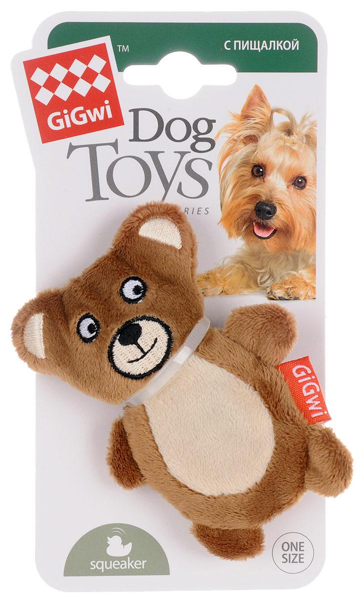 Игрушка для собак GiGwi Мишка, с пищалкой, длина 9,5 смD-1287Игрушка для собак GiGwi Мишка порадует вашу собаку и доставит ей море веселья. Несмотря на большое количество материалов, большинство собак для игры выбирают классические плюшевые игрушки. Такие игрушки можно носить, уютно прижиматься во сне, жевать. Некоторые собаки просто любят взять в зубы игрушку и ходить с ней повсюду. Мягкие игрушки сохраняют запах питомца, поэтому он каждый раз к ней возвращается. Милые, мягкие и приятные зверушки характеризуются высоким качеством исполнения и привлекательным дизайном. Внутри игрушки нет наполнителя, что поможет сохранить чистоту в помещении. Игрушка снабжена пищалкой, которая привлекает внимание животного.