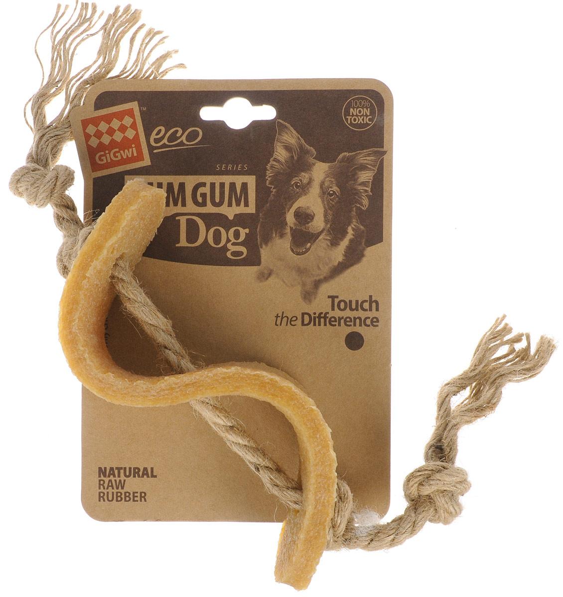 Игрушка для собак GiGwi Доллар, длина 13,5 см12171996Игрушка для собак GiGwi Доллар выполнена из натуральных компонентов - 100% нетоксичного каучука и льняного жгута. Натуральные материалы игрушки не вредят здоровью вашего питомца, его зубам и деснам, тем самым обеспечивая здоровую игру для вашего друга.