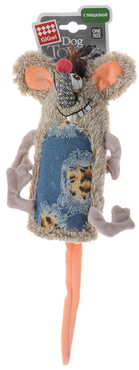 Игрушка для собак GiGwi Мышь, с пищалкой, длина 35 см101246Игрушка для собак GiGwi Мышь порадует вашу собаку и доставит ей море веселья. Несмотря на большое количество материалов, большинство собак для игры выбирают классические плюшевые игрушки. Такие игрушки можно носить, уютно прижиматься во сне, жевать. Некоторые собаки просто любят взять в зубы игрушку и ходить с ней повсюду. Мягкие игрушки сохраняют запах питомца, поэтому он каждый раз к ней возвращается.Милые, мягкие и приятные зверушки характеризуются высоким качеством исполнения и привлекательным дизайном. Внутри игрушки нет наполнителя, что поможет сохранить чистоту в помещении. Игрушка снабжена пищалкой.