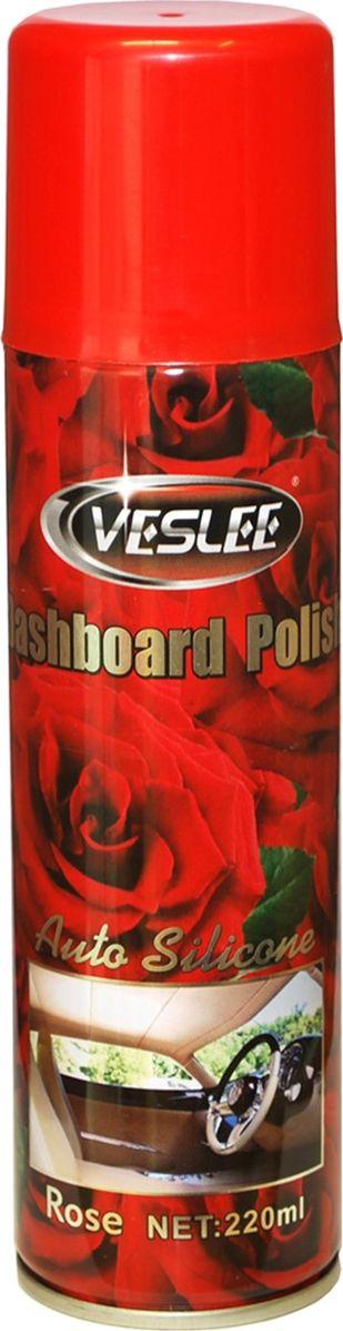 Очиститель-полироль Veslee Роза, с силиконом, аэрозоль, 220 млVL-17AОчиститель-полироль Veslee Роза применяется для ухода за приборной панелью, а также различными пластиковыми, резиновыми и виниловыми элементами салона автомобиля.Удаляет пыль и грязь, пятна и отпечатки пальцев. Образует на поверхности пленку с пылеотталкивающими свойствами, придает поверхности блеск.Защищает от негативного воздействия ультрафиолета и предотвращает появление микротрещин.Обладает свежим ароматом, нейтрализующим неприятные запахи.