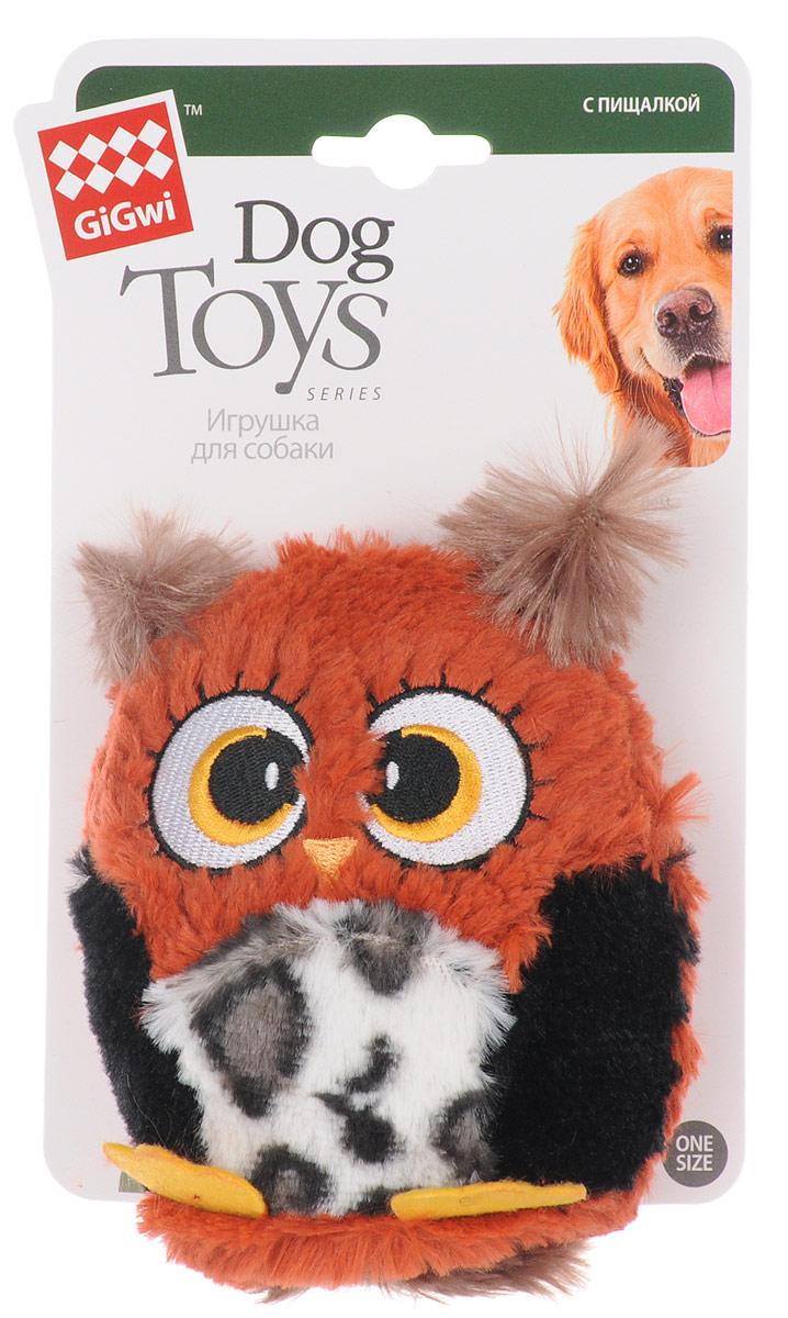 Игрушка для собак GiGwi Сова, с большой пищалкой, длина 12 см75228Игрушка для собак GiGwi Сова выполнена из резины и дополнена текстильным покрытием. Игрушка подходит для активной игры. Забавная сова с пищалкой непременно понравится вашему любимцу.