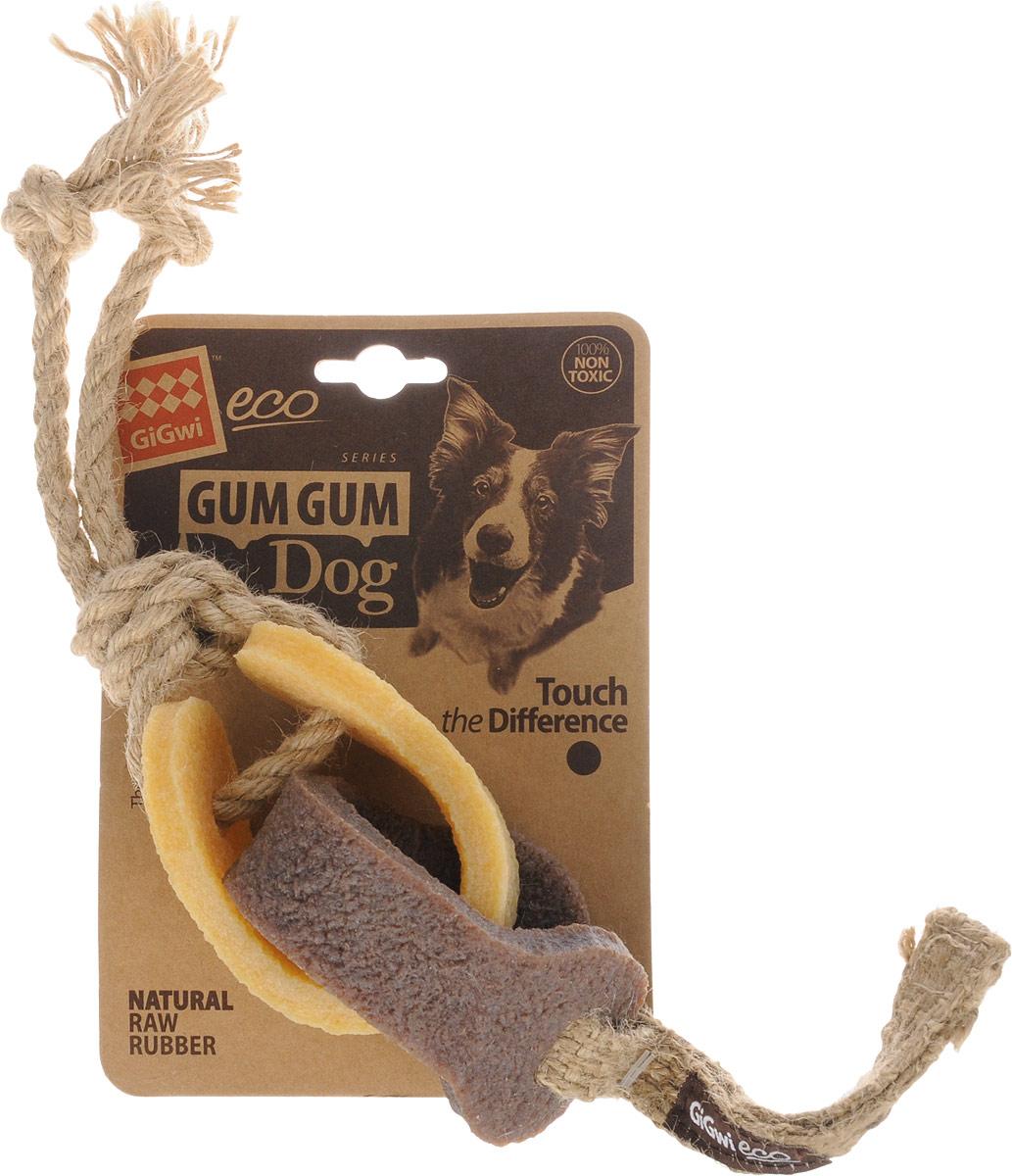 Игрушка для собак GiGwi Резиновая цепь, длина 18 см75318Игрушка для собак GiGwi Резиновая цепь выполнена из натуральных компонентов - 100% нетоксичного каучука и льняного жгута. Натуральные материалы не вредят здоровью питомца, его зубам и деснам, тем самым обеспечивая здоровую игру для вашего друга.