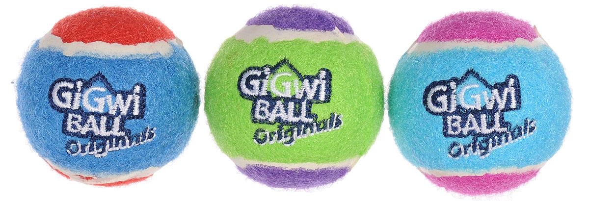 Игрушка для собак GiGwi Мячи, с пищалкой, диаметр 4,8 см, 3 шт0120710Игрушка для собак GiGwi Мячи изготовлена из прочной цветной резины с ворсистой поверхностью в виде теннисного мяча. Предназначена для игр с собакой любого возраста. Внутри мяча расположена пищалка. Такая игрушка привлечет внимание вашего любимца и не оставит его равнодушным. Диаметр: 4,8 см.