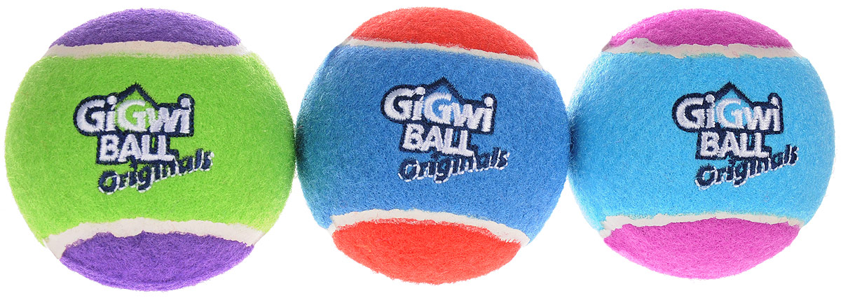 Игрушка для собак GiGwi Мячи, с пищалкой, диаметр 8 см, 3 шт0120710Игрушка для собак GiGwi Мячи изготовлена из прочной цветной резины с ворсистой поверхностью в виде теннисного мяча. Предназначена для игр с собакой любого возраста. Внутри мяча расположена пищалка. Такая игрушка привлечет внимание вашего любимца и не оставит его равнодушным. Диаметр: 8 см.