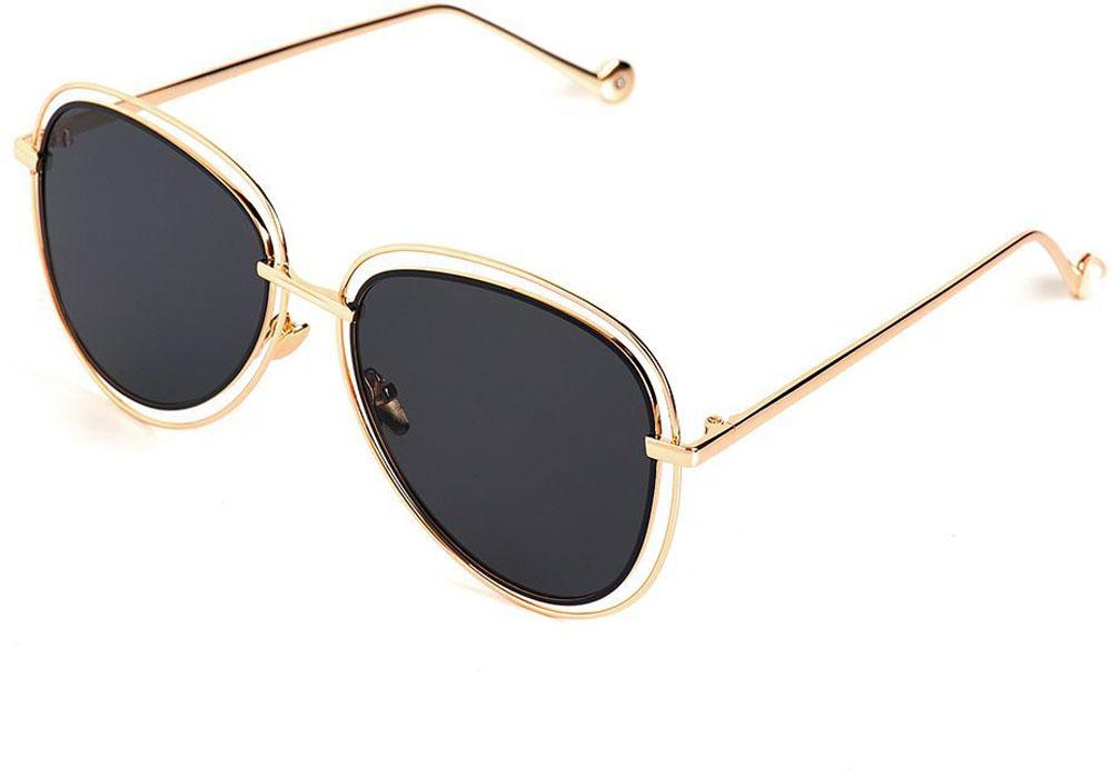 Очки солнцезащитные женские Selena, цвет: золотистый, черный. 80035491INT-06501Солнцезащитные женские очки Selena выполнены из качественного материала. Линзы очков обеспечивают 100% защиту от ультрафиолетовых лучей.Такие очки защитят глаза от ультрафиолетовых лучей, подчеркнут вашу индивидуальность и сделают ваш образ завершенным.Размер (ширина линзы*ширина моста-длина дужки) 58*12-145.