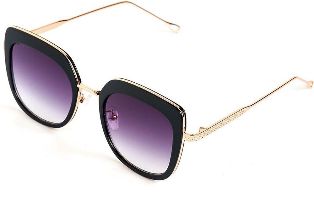 Очки солнцезащитные женские Selena, цвет: золотистый, черный. 80035521BM8434-58AEСолнцезащитные женские очки Selena выполнены из качественного материала. Линзы очков обеспечивают 100% защиту от ультрафиолетовых лучей.Такие очки защитят глаза от ультрафиолетовых лучей, подчеркнут вашу индивидуальность и сделают ваш образ завершенным.Размер (ширина линзы*ширина моста-длина дужки) 54*18-150.
