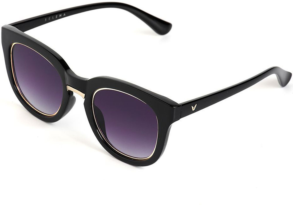 Очки солнцезащитные женские Selena, цвет: черный. 80035561INT-06501Солнцезащитные женские очки Selena выполнены из качественного материала. Линзы очков обеспечивают 100% защиту от ультрафиолетовых лучей.Такие очки защитят глаза от ультрафиолетовых лучей, подчеркнут вашу индивидуальность и сделают ваш образ завершенным.Размер (ширина линзы*ширина моста-длина дужки) 56*20-145.