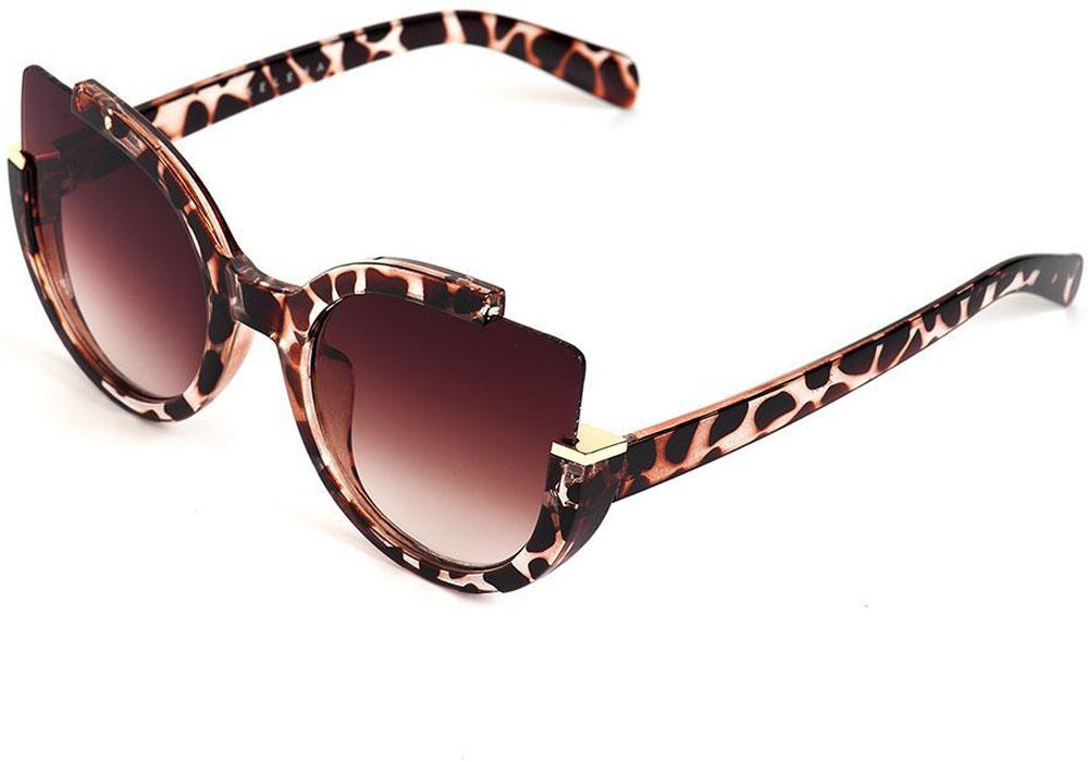 Очки солнцезащитные женские Selena, цвет: коричневый. 80035661INT-06501Солнцезащитные женские очки Selena выполнены из качественного материала. Линзы очков обеспечивают 100% защиту от ультрафиолетовых лучей.Такие очки защитят глаза от ультрафиолетовых лучей, подчеркнут вашу индивидуальность и сделают ваш образ завершенным.Размер (ширина линзы*ширина моста-длина дужки) 60*20-150.