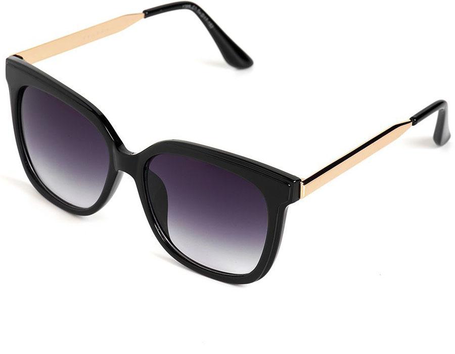 Очки солнцезащитные женские Selena, цвет: черный, золотой. 80035711CCARR11Солнцезащитные женские очки Selena выполнены из качественного материала. Линзы очков обеспечивают 100% защиту от ультрафиолетовых лучей.Такие очки защитят глаза от ультрафиолетовых лучей, подчеркнут вашу индивидуальность и сделают ваш образ завершенным.Размер (ширина линзы*ширина моста-длина дужки) 54*17-152.