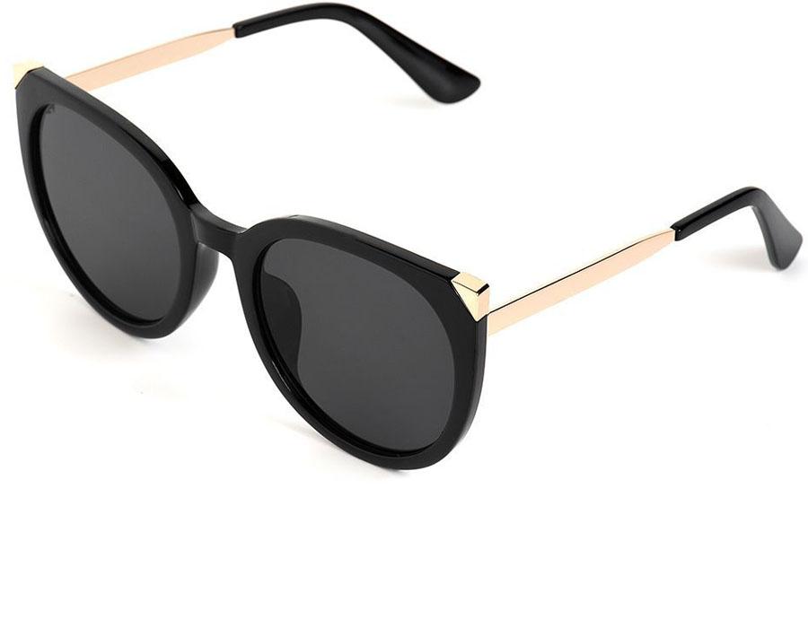 Очки солнцезащитные женские Selena, цвет: черный. золотой. 80035771SARMA норка С030-1Солнцезащитные женские очки Selena выполнены из качественного материала. Линзы очков обеспечивают 100% защиту от ультрафиолетовых лучей.Такие очки защитят глаза от ультрафиолетовых лучей, подчеркнут вашу индивидуальность и сделают ваш образ завершенным.Размер (ширина линзы*ширина моста-длина дужки) 56*22-138.