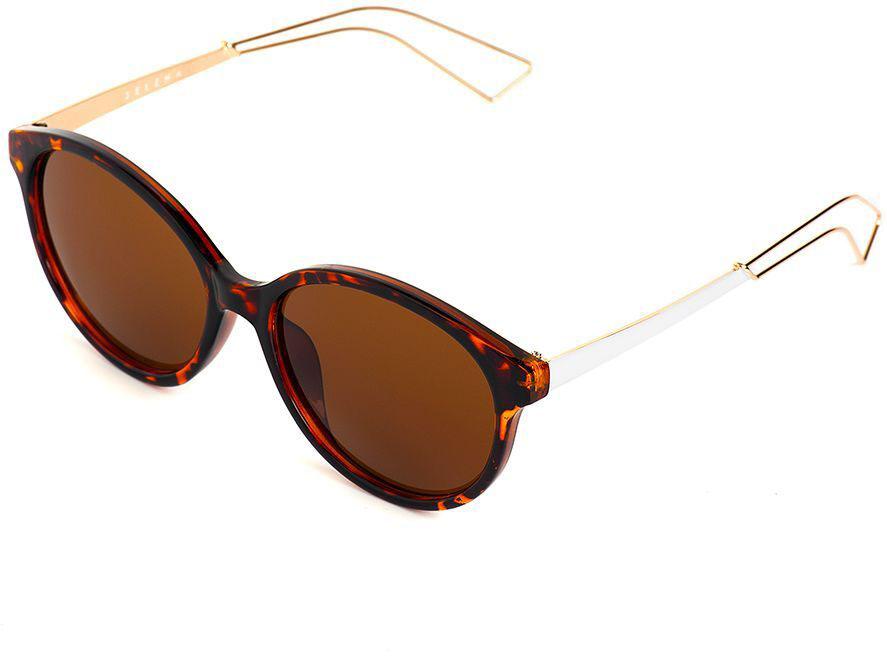 Очки солнцезащитные женские Selena, цвет: белый, коричневый. 80036061BM8434-58AEСолнцезащитные женские очки Selena выполнены из качественного материала. Линзы очков обеспечивают 100% защиту от ультрафиолетовых лучей.Такие очки защитят глаза от ультрафиолетовых лучей, подчеркнут вашу индивидуальность и сделают ваш образ завершенным.Размер (ширина линзы*ширина моста-длина дужки) 55*17-140.