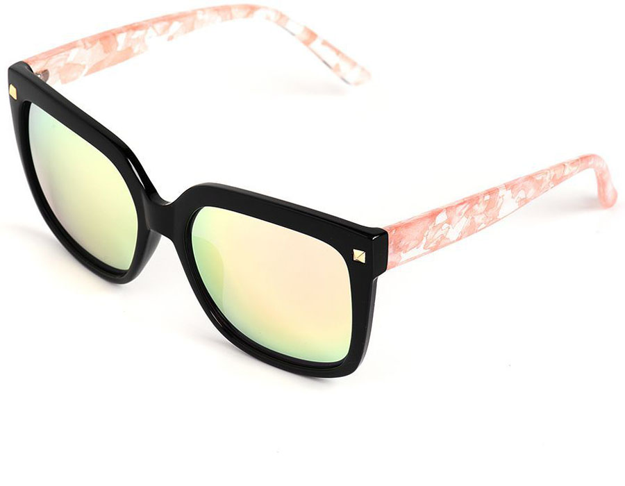 Очки солнцезащитные женские Selena, цвет: розовый, черный. 80036071BM8434-58AEСолнцезащитные женские очки Selena выполнены из качественного материала. Линзы очков обеспечивают 100% защиту от ультрафиолетовых лучей.Такие очки защитят глаза от ультрафиолетовых лучей, подчеркнут вашу индивидуальность и сделают ваш образ завершенным.Размер (ширина линзы*ширина моста-длина дужки) 60*19-145.