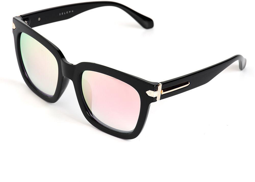 Очки солнцезащитные женские Selena, цвет: розовый, черный. 80036101BM8434-58AEСолнцезащитные женские очки Selena выполнены из качественного материала. Линзы очков обеспечивают 100% защиту от ультрафиолетовых лучей.Такие очки защитят глаза от ультрафиолетовых лучей, подчеркнут вашу индивидуальность и сделают ваш образ завершенным.Размер (ширина линзы*ширина моста-длина дужки) 56*21-135.