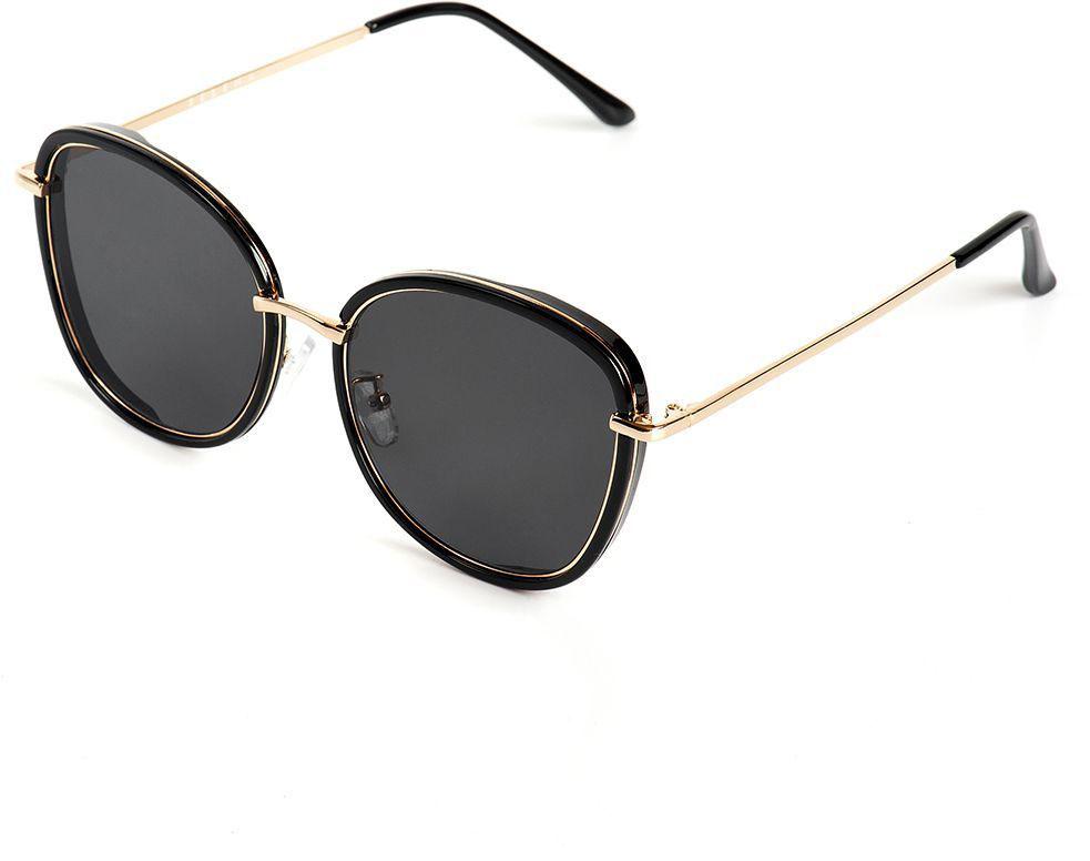Очки солнцезащитные женские Selena, цвет: золотистый, коричневый. 80036151INT-06501Солнцезащитные женские очки Selena выполнены из качественного материала. Линзы очков обеспечивают 100% защиту от ультрафиолетовых лучей.Такие очки защитят глаза от ультрафиолетовых лучей, подчеркнут вашу индивидуальность и сделают ваш образ завершенным.Размер (ширина линзы*ширина моста-длина дужки) 53*22-145.