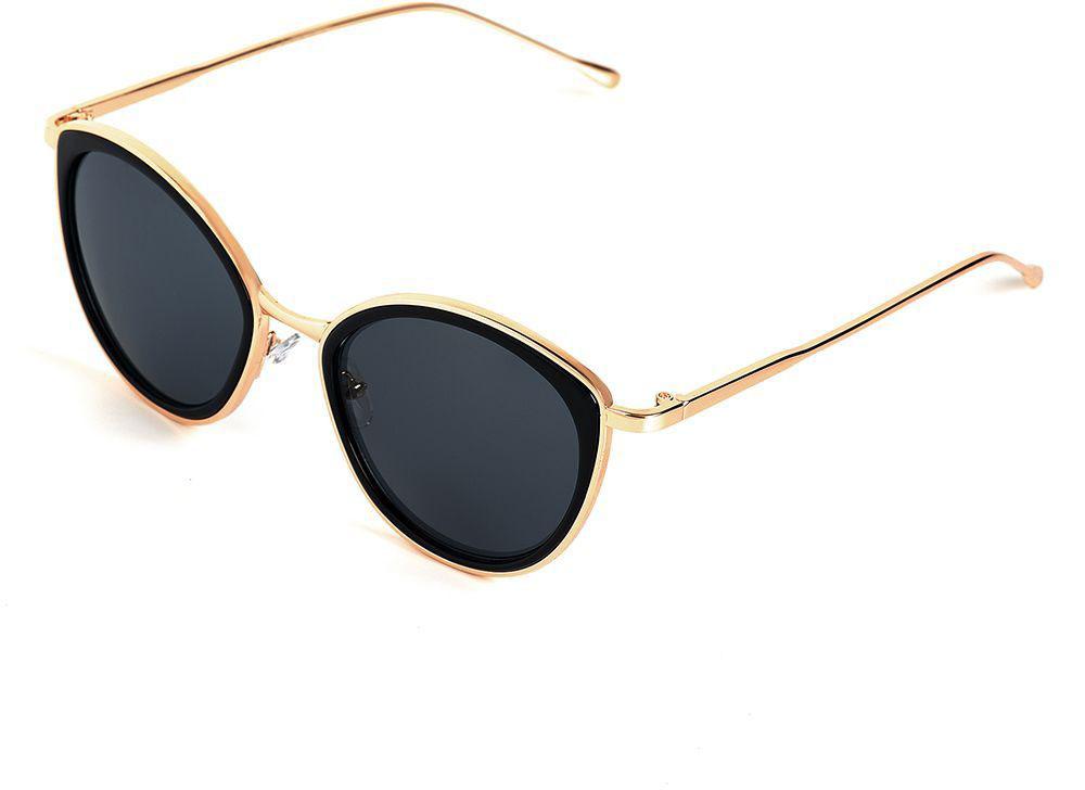 Очки солнцезащитные женские Selena, цвет: золотистый, черный. 80036161BM8434-58AEСолнцезащитные женские очки Selena выполнены из качественного материала. Линзы очков обеспечивают 100% защиту от ультрафиолетовых лучей.Такие очки защитят глаза от ультрафиолетовых лучей, подчеркнут вашу индивидуальность и сделают ваш образ завершенным.Размер (ширина линзы*ширина моста-длина дужки) 55*19-140.