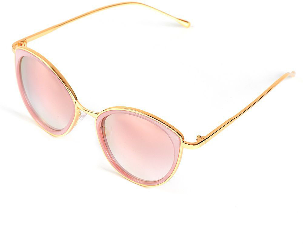 Очки солнцезащитные женские Selena, цвет: золотистый, розовый. 80036171BM8434-58AEСолнцезащитные женские очки Selena выполнены из качественного материала. Линзы очков обеспечивают 100% защиту от ультрафиолетовых лучей.Такие очки защитят глаза от ультрафиолетовых лучей, подчеркнут вашу индивидуальность и сделают ваш образ завершенным.Размер (ширина линзы*ширина моста-длина дужки) 55*19-140.